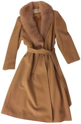 Bill Blass Camel Cashmere Coat for Women