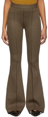 Rosetta Getty Beige Pintuck Flared Trousers