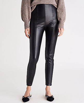 Ann Taylor The Side Zip Faux Leather Legging