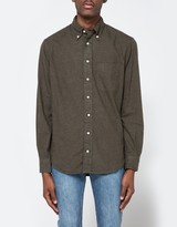 Gitman Brothers Flannel Button Down in Loden