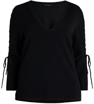 Marina Rinaldi Lace-Up-Sleeve Blouse