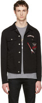 Dolce & Gabbana Black follow Me Denim Jacket
