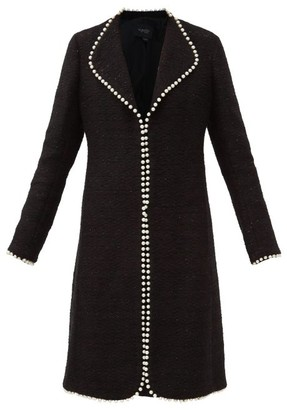 Giambattista Valli Embellished Glittered Cotton-blend Boucle Overcoat - Black