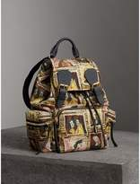 Burberry The Medium Rucksack in Framed Heads Print
