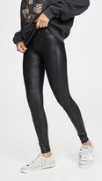 Spanx Zip Detail Faux Leather Leggings