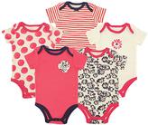 Luvable Friends Pink Daisy Bodysuit Set - Infant