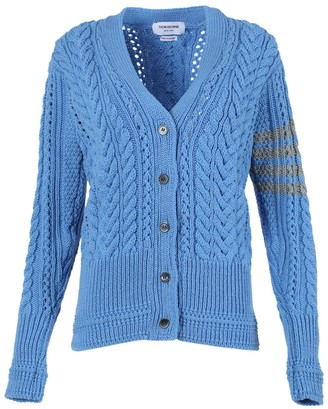 Thom Browne Aran Cable Relaxed V-neck Cardigan