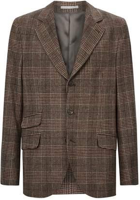 Brunello Cucinelli Check Wool-Cashmere Blazer