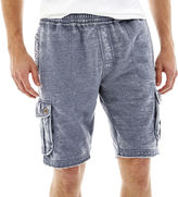 JCPenney MORTAR ORIGINAL Mortar Original Burnout Fleece Cargo Shorts