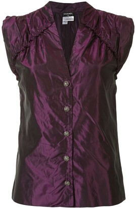 Chanel Pre Owned 2008 Sleeveless Silk Blouse