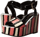 Just Cavalli Striped Printed Leather and Patent Leather
