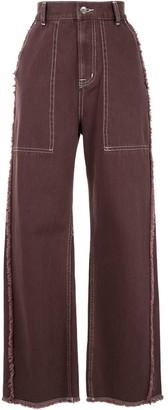 G.V.G.V. Fringed Twill Jeans