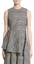 Jason Wu Women's Check Wool Peplum Top