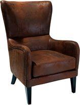 SkyBlue New York Loft Salerno Brown Fabric Armchair