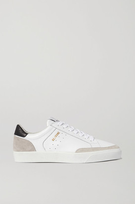 RE/DONE 90s Skate Leather And Distressed Suede Sneakers - White