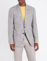 Armani Collezioni Check-print regular-fit woven jacket