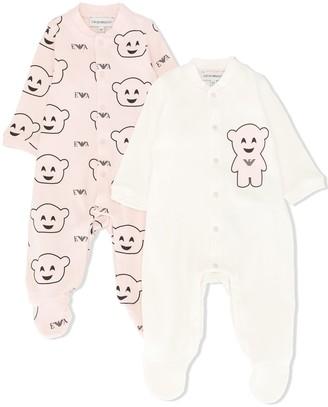 Emporio Armani Kids Bear-Print Two-Set Pyjamas