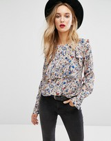 MANGO Ditsy Floral Ruffle Blouse