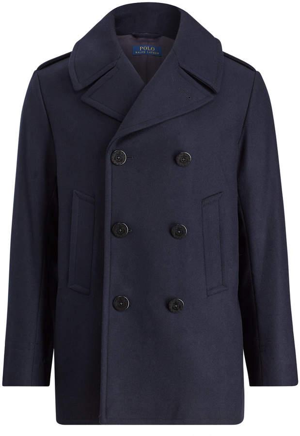 Ralph Lauren Virgin Wool-Blend Peacoat