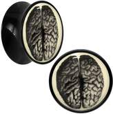 """Body Candy Acrylic Dissected Brain Glow in the Dark Saddle Plug Pair 1/2"""""""