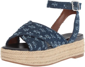 Nine West Women's SHOWRUNNER Denim Sandal