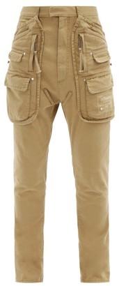DSQUARED2 Sharpei Cotton-twill Cargo Trousers - Beige