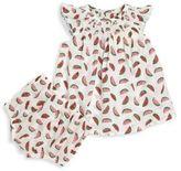 Stella McCartney Baby's Sage Two-Piece Smocked Organic Cotton Dress & Bloomers Set