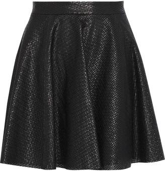 Alice + Olivia Blaise Perforated Leather Mini Skirt