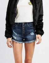 Charlotte Russe Refuge Hi-Rise Destroyed Denim Shorts