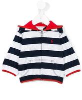 Ralph Lauren striped print hoody - kids - Cotton - 6 mth