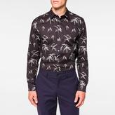 Paul Smith Men's Tailored-Fit Black 'Bamboo' Print Shirt
