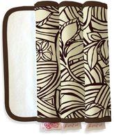 The Peanut Shell Burpeas Burp Cloth in Vanilla Bean (Set of 3)