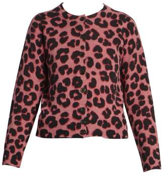 Marc Jacobs The Leopard Print Wool Cardigan