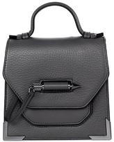 Mackage Rubie Structured Leather Shoulder Bag In Slate