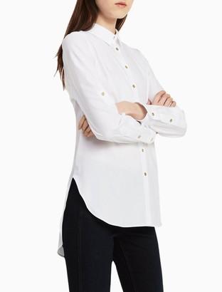 Calvin Klein Cotton Non-Iron Roll-Up Tunic