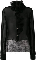 Lanvin ruffled neck blouse