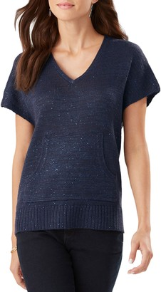 Tommy Bahama Solana Sequin Short Sleeve Sweater