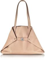 Akris Ai Small Pale Rose Leather Tote Bag