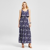 Merona Women's Printed Challis Maxi Dress Xavier Navy