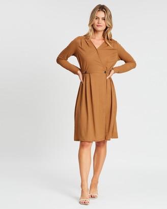 Vero Moda V-Neck Midi Dress