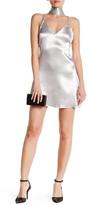 Reverse V-Neck Slip Dress