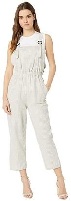 Bishop + Young Seabreeze Overall Jumpsuit (Grey Stripe) Women's Jumpsuit & Rompers One Piece