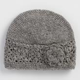 Gray Crochet Wool Beanie