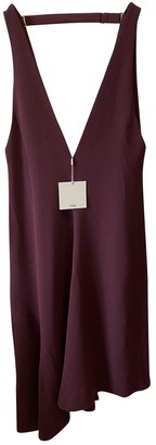 Tibi Burgundy Silk Dresses