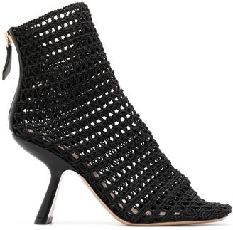 Nicholas Kirkwood Alba macrame ankle boots