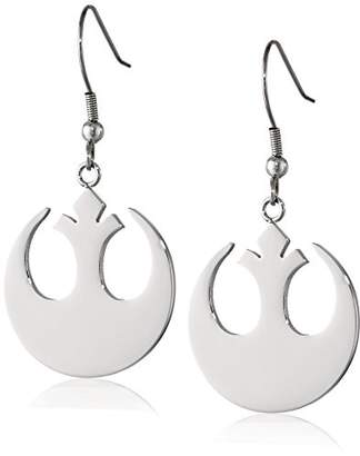 Star Wars Jewelry Rebel Alliance Stainless Steel Dangle Hook Drop Earrings (SALES1SWMD)