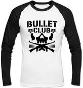 Thomas J Pelletier Men's Bullet Club Long Sleeve Baseball Shirt L