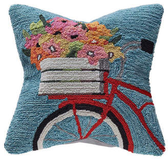 "Liora Manné Frontporch Bike Ride Indoor, Outdoor Pillow - 18"" Square"