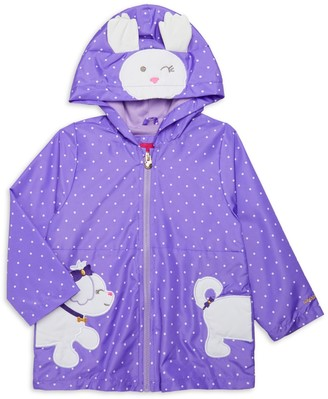London Fog Baby Girl's Polka Dot Hooded Jacket
