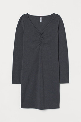 H&M V-neck Dress - Gray